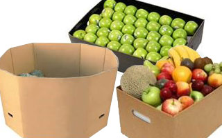 transportation of fruits and vegetables in cardboard crates